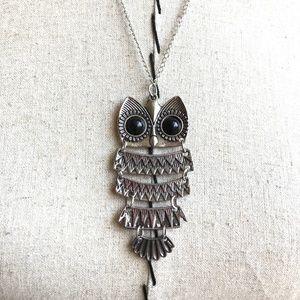 "Jewelry - Boho fashion owl pendant necklace, 12"" drop, NWT!"